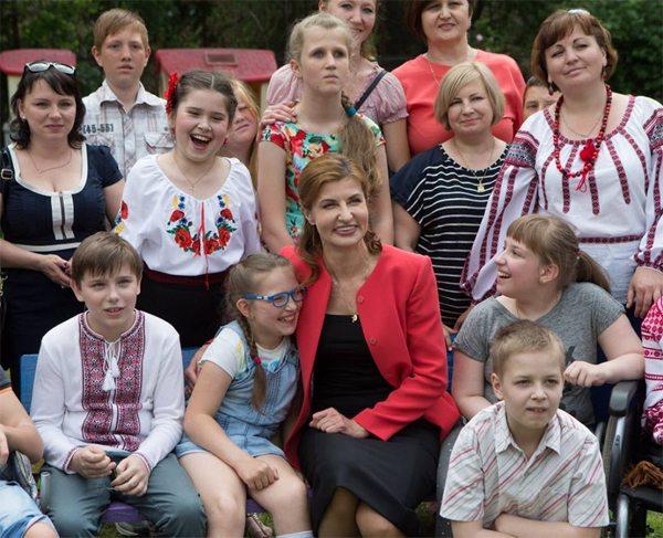 Марина Порошенко в День защиты детей