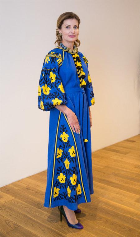 Марина Порошенко в платье-вышиванке от VITA KIN