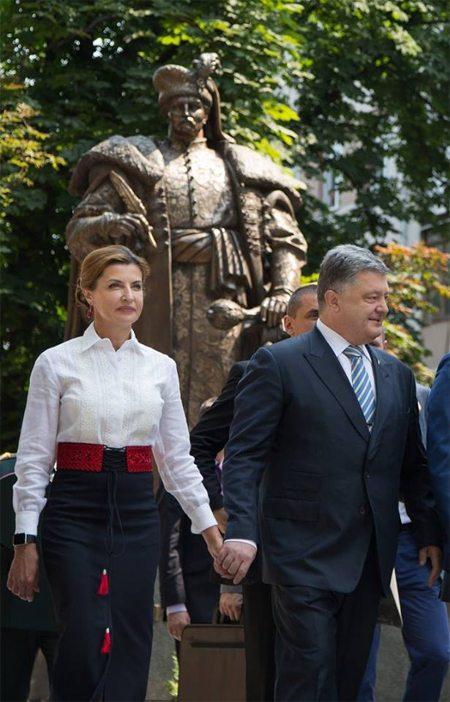 Марина Порошенко с мужем на торжественных мероприятиях в День Конституции Украины, 28 июня 2016