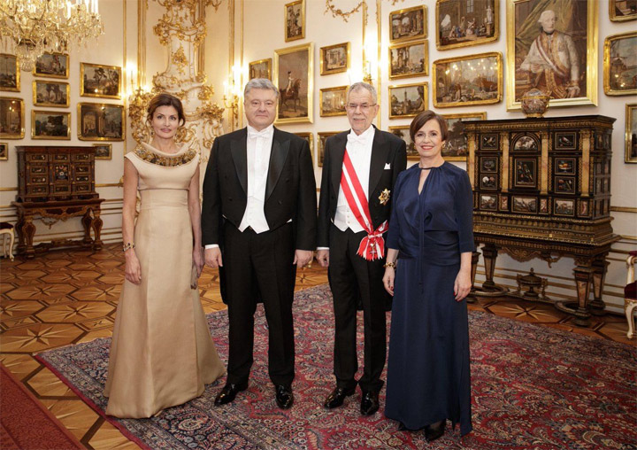 Супруги Порошенко на Венском балу. Фото: A. Van der Bellen / Twitter