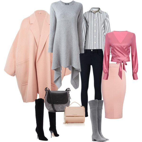 Осенне-зимний капсульный гардероб 2017 с пальто в стиле оверсайз