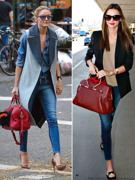 Оливия Палермо и Миранда Керр носят tote bags