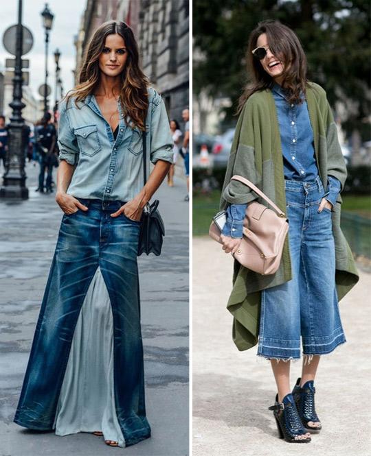 Образ с рубашкой джинсовой