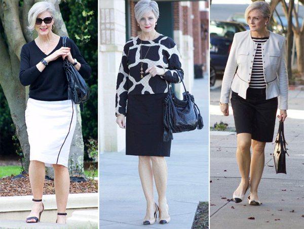 Вот так одеться 1-го сентября учительнице среднего и пожилого возраста, а также бабушке ученика / ученицы