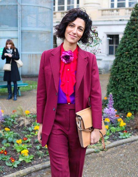 Модные образы осень 2016: Ясмин Сьюэлл в костюме Gucci