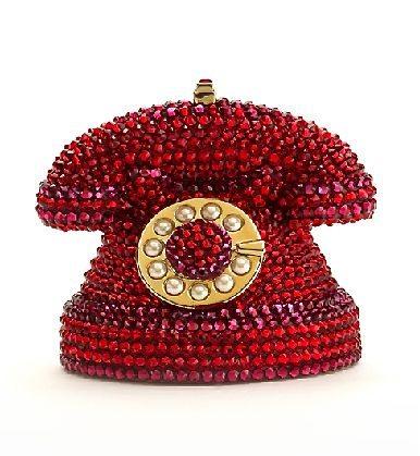 Вечерняя сумочка в виде телефона, усыпанная кристаллами