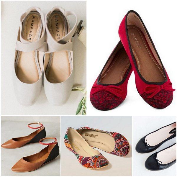Балетки - универсальные туфли, с помощью которых можно создать комплект на любой вкус