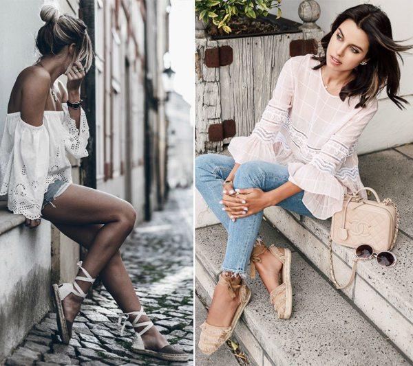 Уличная мода 2017: эспадрильи, оборки, открытые плечи
