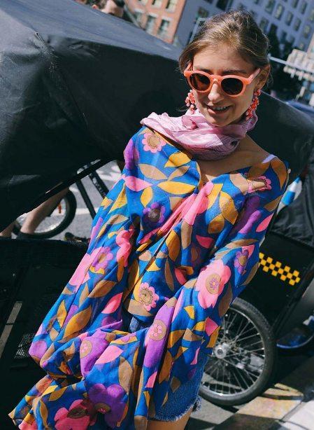Шелковая блузка с цветочным принтом 2016