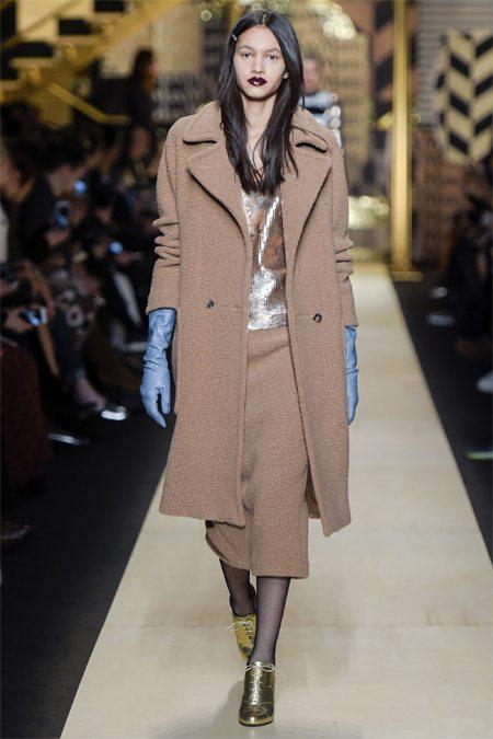 Бежевое пальто Max Mara осень-зима 2016-2017