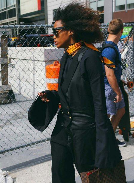 Уличный стиль 2016: черный и оранжевый