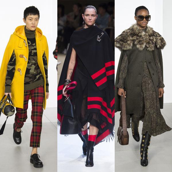 Модные кейпы и пончо Michael Kors Alexander McQueen