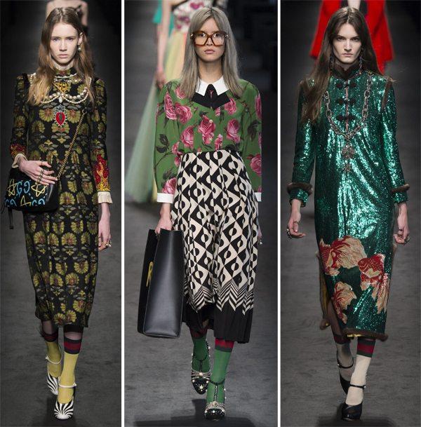 Носки как элемент образа Gucci осень-зима