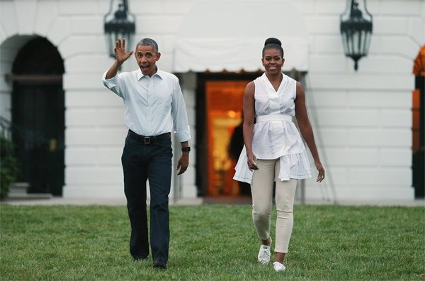 Мишель и Барак Обама: неформальный стиль одежды