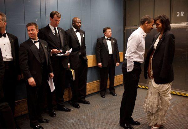 Мишель и Барак Обама в день инаугурации в 2009-м году