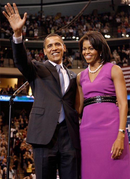 Президент Америки Барак Обама с супругой