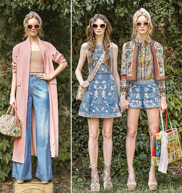 Стиль ретро 70-х на новый лад: деним в коллекции Alice + Olivia весна-лето 2017
