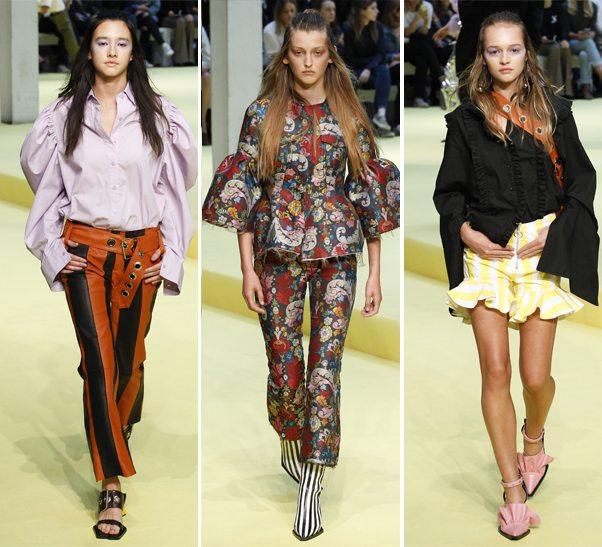 Объемные рукава на модных блузках в коллекции Marques Almeida SS 2017