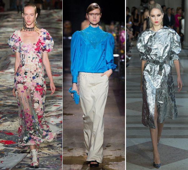 Модные платья и блука с пышными рукавами от Alexander McQueen, Dries von Noten, Carolina Herrera для весны и лета 2017