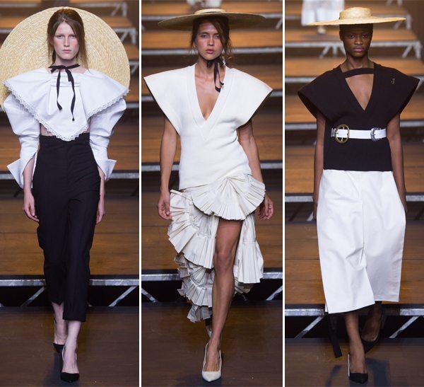 Черное и белое в весенне-летней коллекции Jacquemos 2017