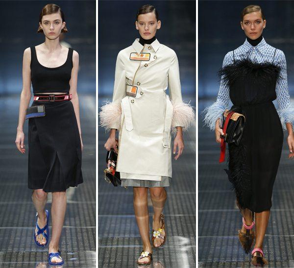 Белое и черное в одежде от Prada весна-лето 2017