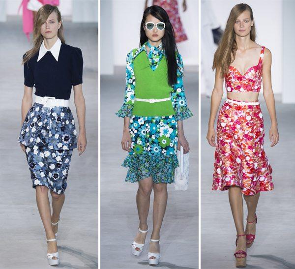 Модные тенденции весна-лето 2016: платье, юбка и костюм с цветочными принтами от Michael Kors