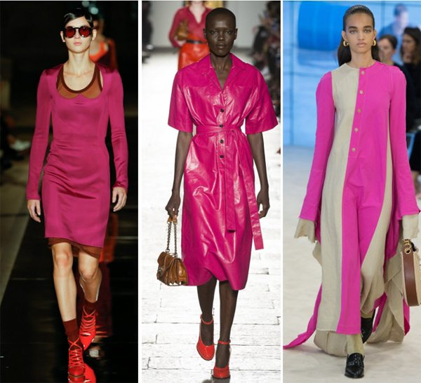 Модные платья цвета фуксии для весны и лета 2017