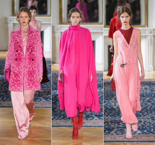 Модные тенденции весна-лето 2017: цвет фуксия в коллекции Valentino
