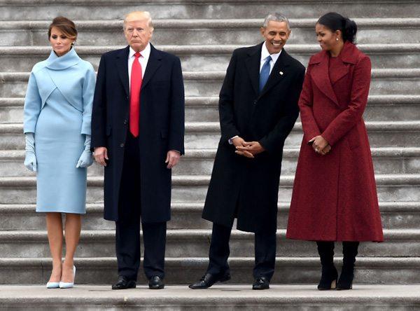 Супруги Трамп и супруги Обама на инаугурации