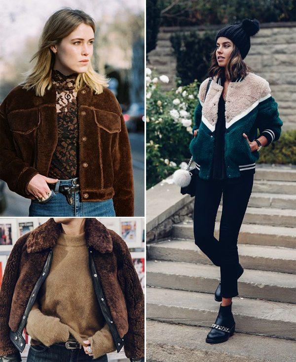 Зимние куртки-бомберы на модницах