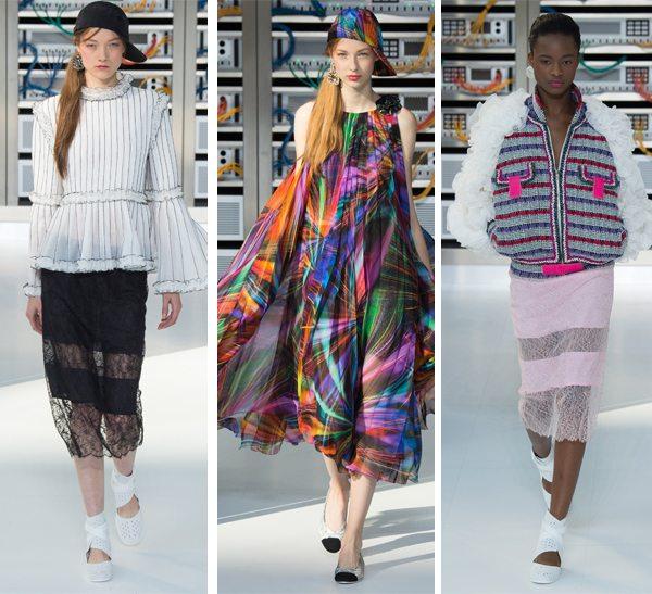 Шифон и кружево - модные ткани весной и летом 2017