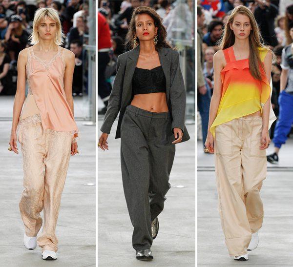 Широкие брюки в коллекции Koché весна-лето 2017