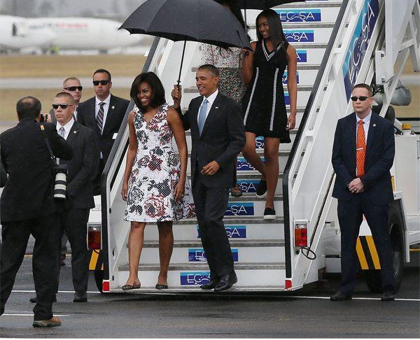 Мишель и Барак Обама во время визита на Кубу