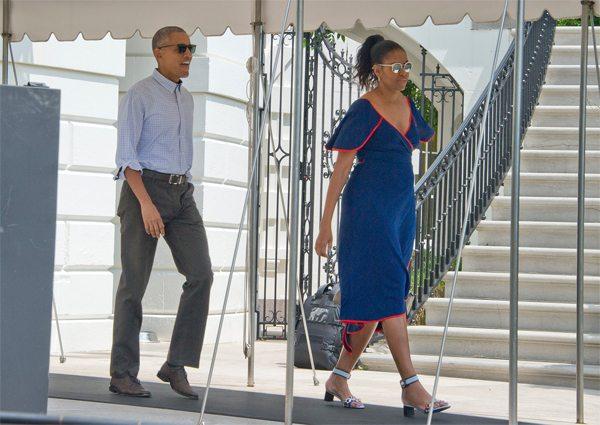 Мишель и Барак Обама на отдыхе, август 2016