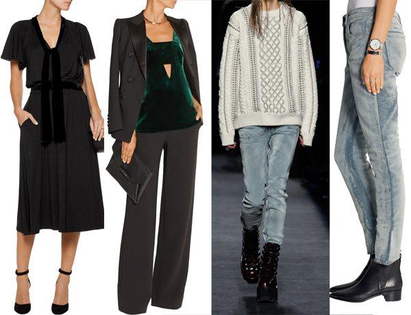 Брендовые бархатные платья, топы и даже джинсы