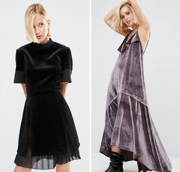 Стильные платья из бархата в интернет-магазине