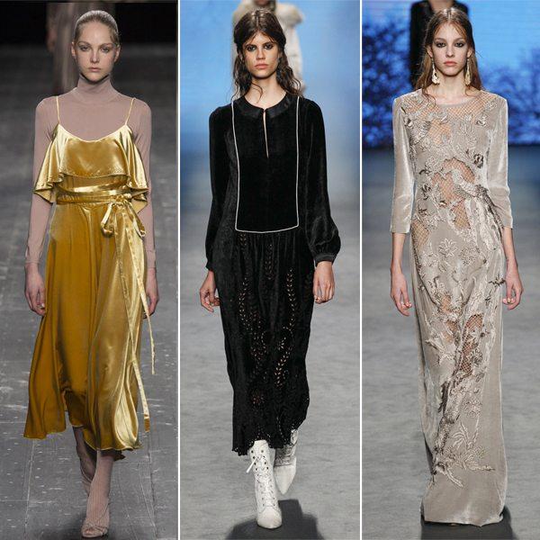 Бархатный сарафан от Valentino бархатные платья от Alberta Ferretti 2016-2017