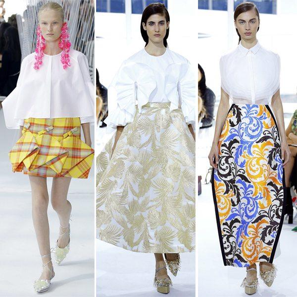 Белые блузы с рюшами от Delpozo