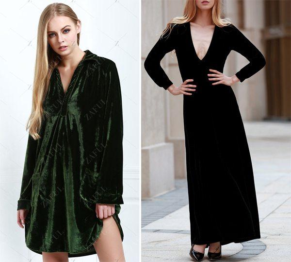 Недорогие бархатные платья