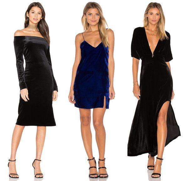 Вечерние и коктейльные бархатные платья можно купить в международном интернет-магазине