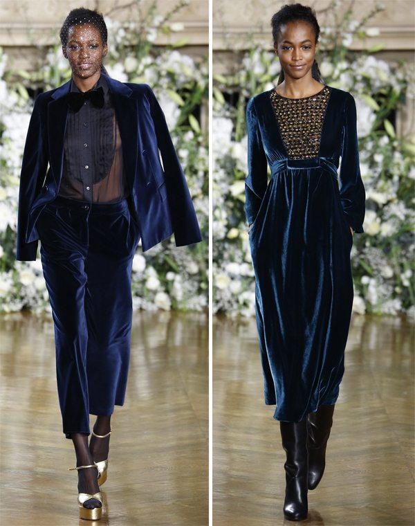 Платье или костюм из бархата - прекрасный выбор на Новый год 2017