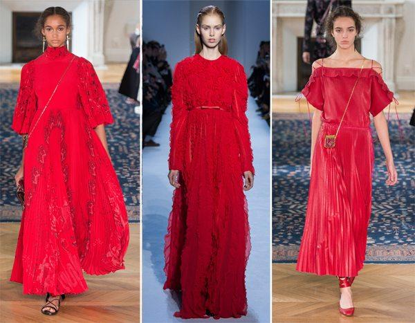 Красное платье на Новый год: Giambatista Valli & Valentino SS 2017