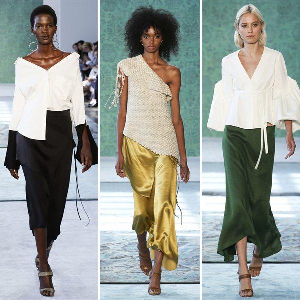 Белые блузки в коллекции Hellessy