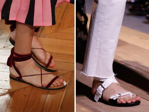 Модные сандалии от Valentino Christian Dior весна-лето 2017