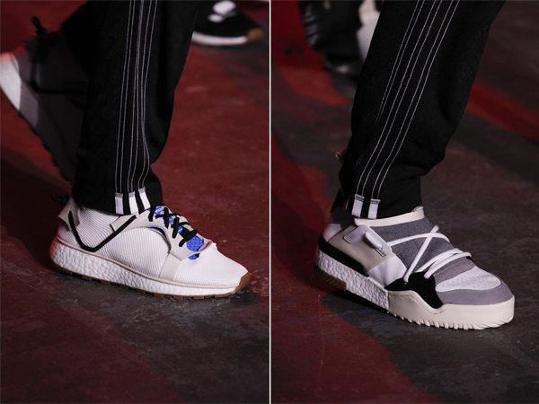 Модные белые кроссовки Alexander Wang весна-лето 2017