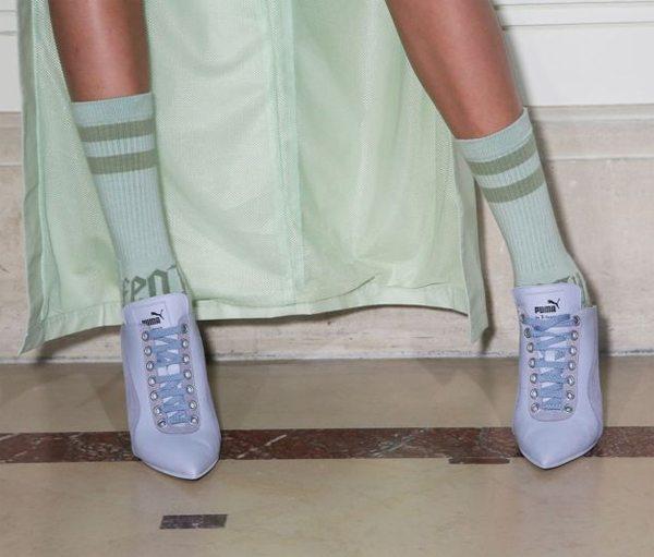 Сникерсы без задника Fenty X Puma в сочетании с носками