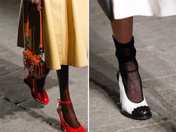 Модные туфли на танкетке Botega Venetta SS 2017