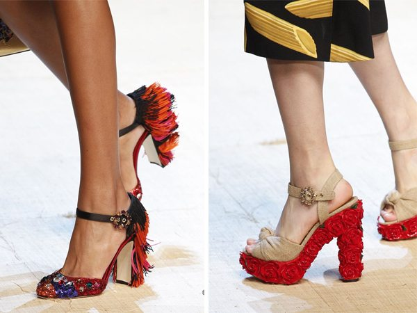 Туфли и босоножки Dolce&Gabbana для весны и лета 2017