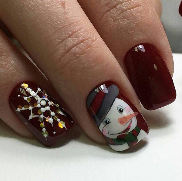 Новогодний маникюр фото: ногти на Новый год