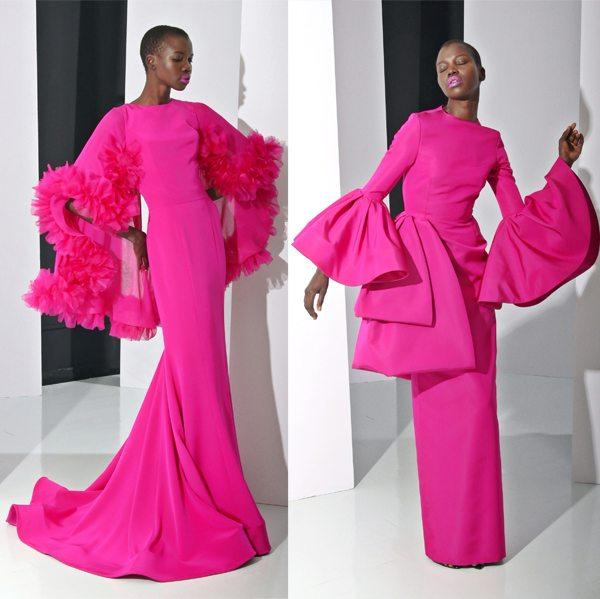 Платья цвета фуксии - прекрасный выбор для новогодней вечеринки